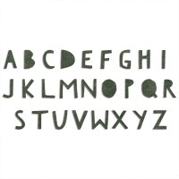 Sizzix Bigz XL Alphabet Die - Cutout Upper by Tim Holtz