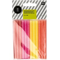 Rico Design Heißklebesticks neon glitter 0,7x10cm 12 Stück