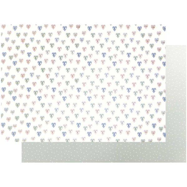Paper Poetry Motivkarton Baby Herzen 50x70cm