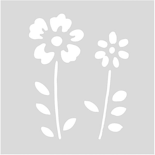 Rico Design Schablone Blumenwiese 7,5x7,5cm selbstklebend