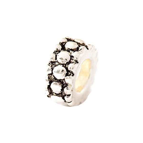 Rico Design Ring mit Muster silber 1,1x0,4cm