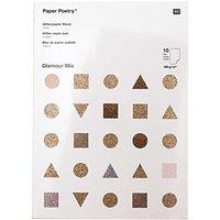 Paper Poetry Glitterpapierblock Glamour Mix DIN A4 10 Blatt