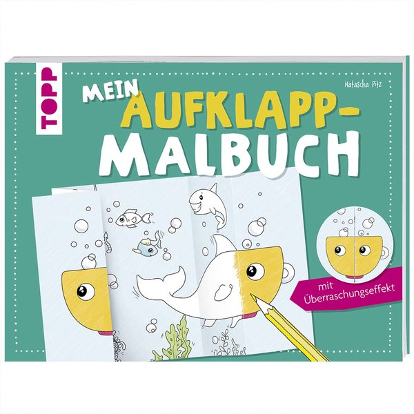 TOPP Mein Aufklapp-Malbuch mit Überraschungseffekt