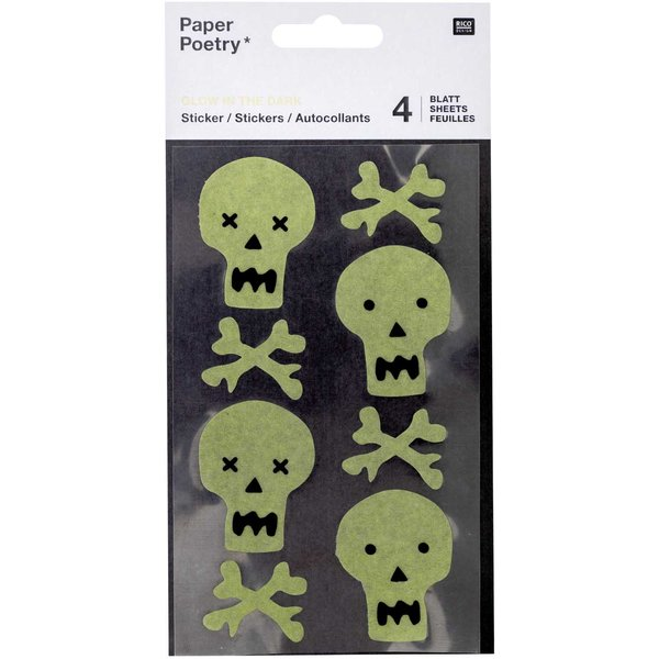Paper Poetry Washi-Sticker Totenschädel