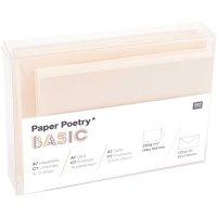 Paper Poetry Kartenset Basic elfenbein A7/C7 30teilig