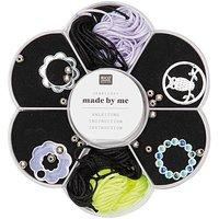 Jewellery Made by Me Makramee Set schwarz-neongelb-flieder 24teilig