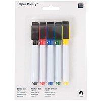 Paper Poetry Folienstifte für Whiteboardfolie 5 Stück