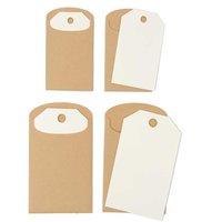 Paper Poetry Geschenkanhänger 6 Stück Kraftpapier