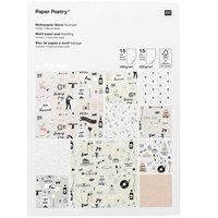 Paper Poetry Motivpapierblock Hochzeit 30 Blatt