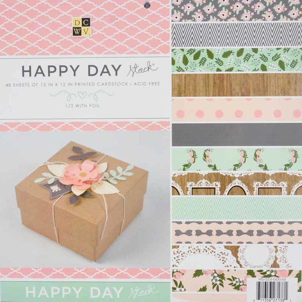 DECOHOBBY Scrapbooking Block Happy Day 30,5x30,5cm 48 Blatt