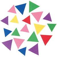 Rico Design Filzdreiecke mehrfarbig selbstklebend ca. 80 Stück