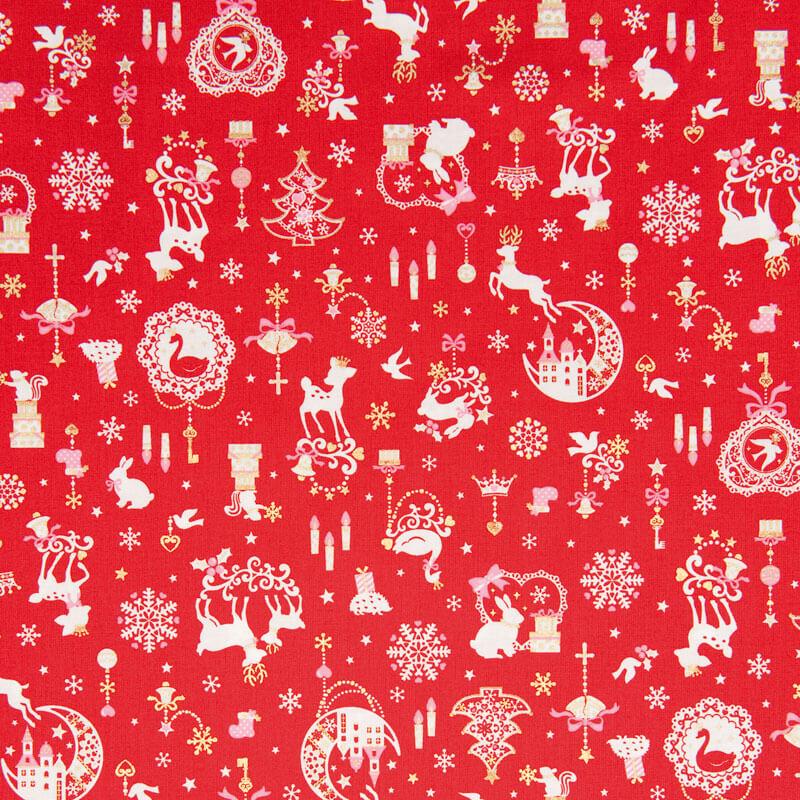 Weihnachtsstoff-Stoffzuschnitt