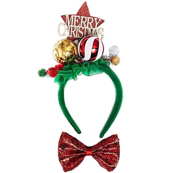 YEY! Let's Party Haarreif und Fliege Merry Christmas