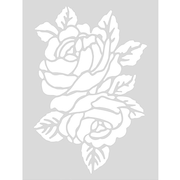 Rico Design Schablone Rose 18,5x24,5cm selbstklebend