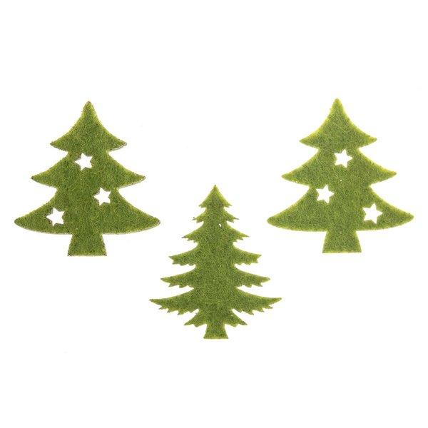 Weihnachtsbaumstreu grün 12 Stück