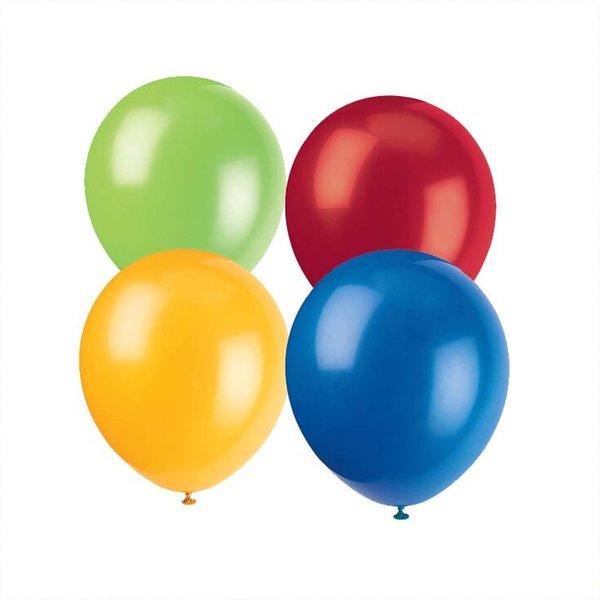 Partystrolche Luftballons bunt 29cm 10 Stück