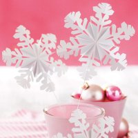 Anleitung Schneeflocken falten
