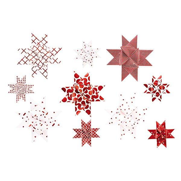 Paper Poetry Fröbelstreifen Graphic weiß-rot 40 Stück