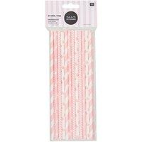 Rico Design Papierstrohhalme rosa mix 24 Stück
