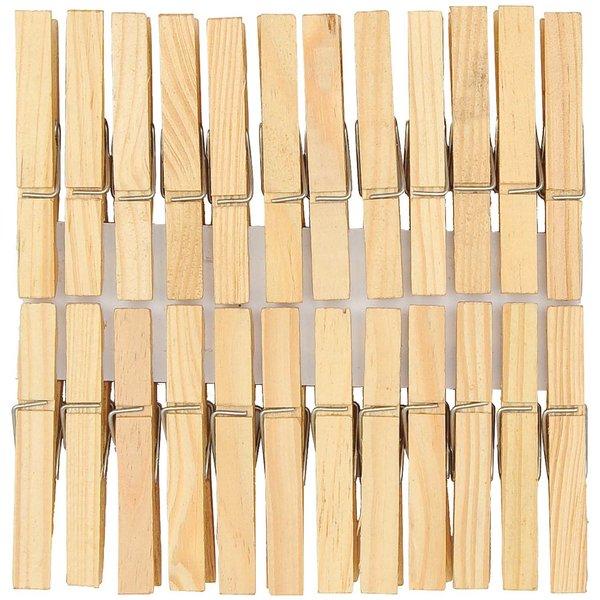 Rico Design Holzklammern natur 7,2cm 50 Stück