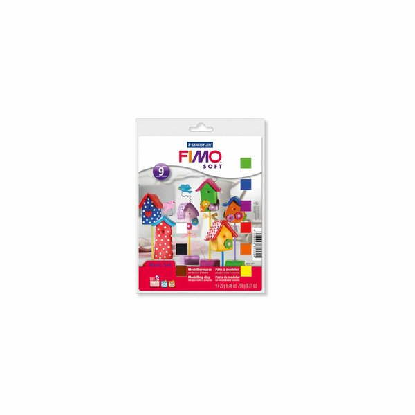 Staedtler FIMO soft Set 9 inkl. Zubehör Halbblöcke je 25g