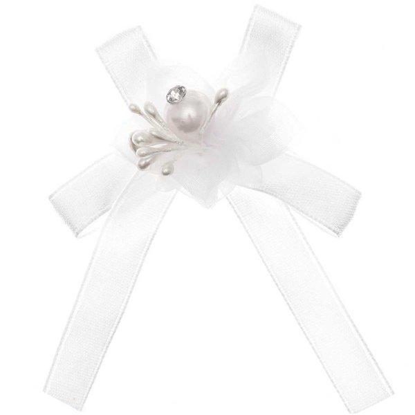 Perlenblüte mit Schleife 5 Stück