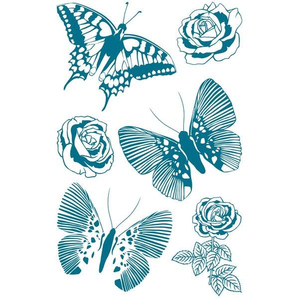 Paper Poetry Silikonstempel Schmetterlinge 8 Motive