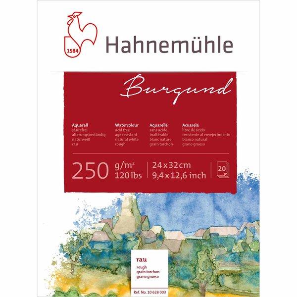 Hahnemühle Akademie Aquarellkarton Burgund rau 24x32cm 250g/m² 20 Blatt