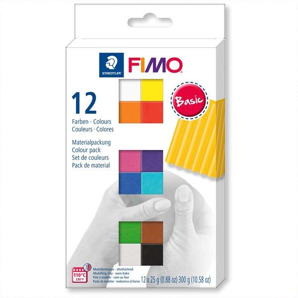 Staedtler FIMO soft Basic 12 Halbblöcke je 25g