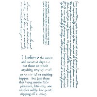 Paper Poetry Silikonstempel Hintergrundtext 4 Motive