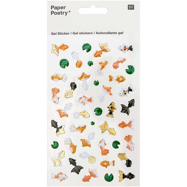 Paper Poetry Gelsticker Jardin Japonais Kois & Lotus