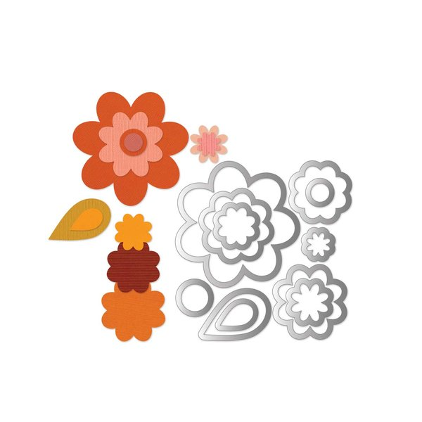 Sizzix Framelits Die Set Flowers Layers & Leaf