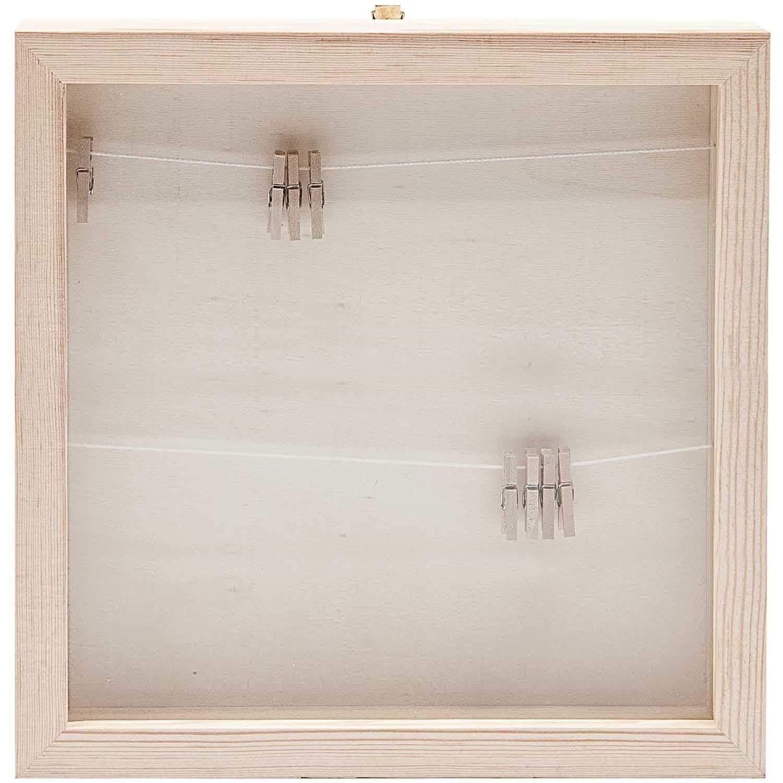 Rico Design Holz Bilderrahmen Mit Fotoleine 336x336x3cm Kaufen