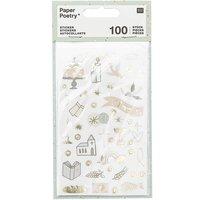 Paper Poetry Sticker Kommunion und Konfirmation 4 Blatt