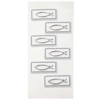 HobbyFun CREApop® Sticker Fische silber 6 Stück