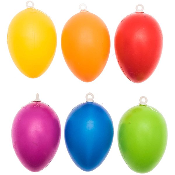 Kunststoffeier mehrfarbig 6cm 12 Stück