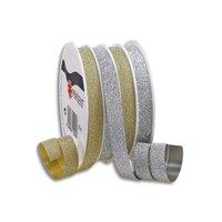 PRÄSENT Ringelband Poly gold-silber glitter 4x4m 10mm
