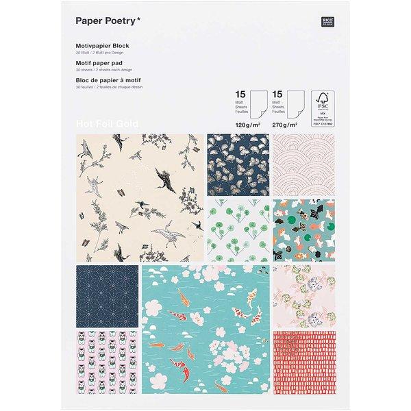 Paper Poetry Motivpapierblock Jardin Japonais 30 Blatt | idee ...