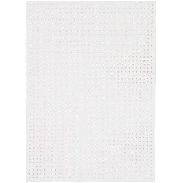 Paper Poetry Stickkarton kleine Löcher weiß 17,5x24,5cm 10 Bogen