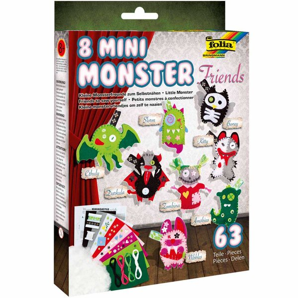 folia Bastelset Mini Monster für 8 Monster