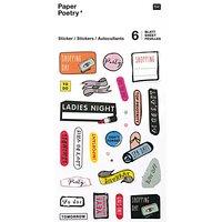 Paper Poetry Sticker Organisation 6 Blatt