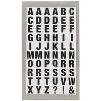Paper Poetry Office Sticker Buchstaben schwarz-weiß 4 Bogen