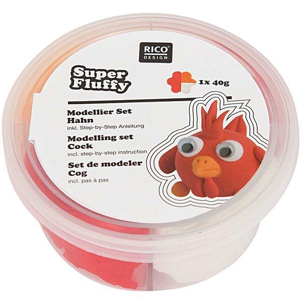 Rico Design Super Fluffy Set Hahn 40g