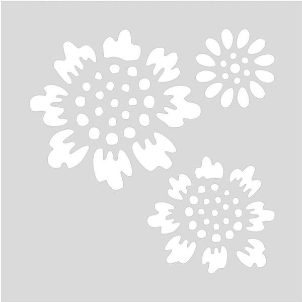 Rico Design Schablone Blüten 7,5x7,5cm selbstklebend