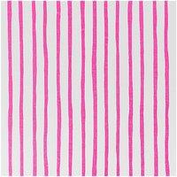 Rico Design Stoff Streifen weiß-pink 50x160cm