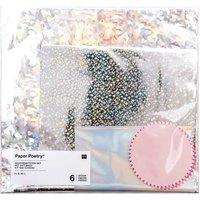 Paper Poetry Geschenktüten Set, 6 Holographietüten und 6 Sticker