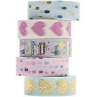 Paper Poetry Tape Set Travel the World 1,5cm 10 m 5 Stück
