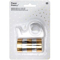 Paper Poetry Mirror Metallic Tape Set gold-silber 12mm 1,8m 6teilig
