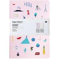 Paper Poetry Notizbücher Travel the World A5 40 Seiten 2 Stück
