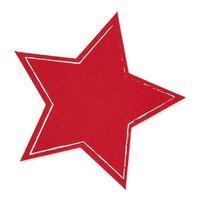 Tafelstoff-Sticker Stern rot 20cm